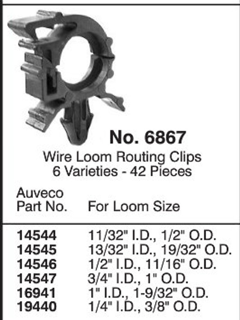 Wire Loom Routing Clips Quick Select Assortment Kit