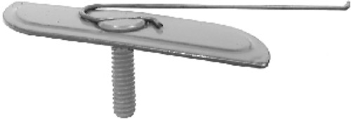 Plate Size: 11/16 x 2-17/32 Bolt: #10-24 x3/4 Chrome Moulding Fasteners 15 Per Box