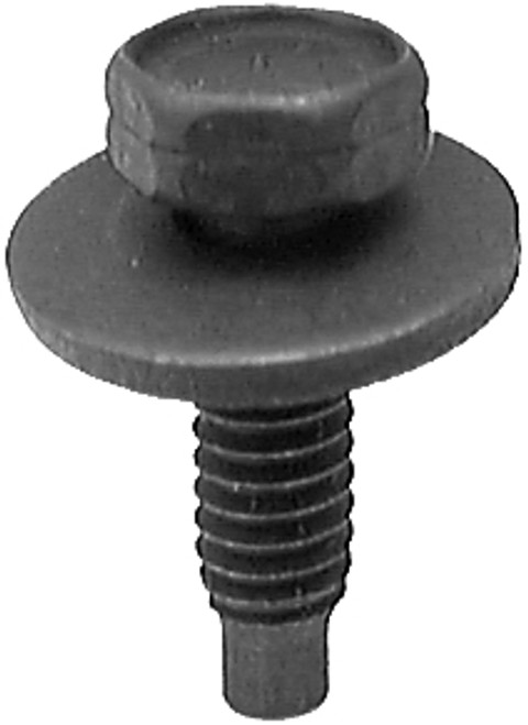 """1/4-20 x 7/8"""" Washer Outer Diameter: 3/4"""" Hex: 7/16"""" Hex Head Sems Body Bolts Black Phosphate 50 Per Box"""