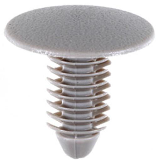 Headliner Retainer KIA Rio 2010-On Head Diameter: 18mm Stem Diameter: 8mm Stem Length: 16mm OEM# 85746-06000LX Gray Nylon 25 Per Box Click Next Image For Clip Detail