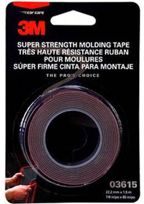 3M 3615 Super Strength Molding Tape, 03615, 7/8 in x 5 ft