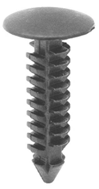 "Engine Mount Heat Shield Retainer Head Diameter: 1/2"" Stem Length: 15/16"" Stem Diameter: 1/4"" Ford Taurus & Sable 1986-On OEM# N804448 Black Nylon 25 Per Box Click Next Image For Clip Detail"