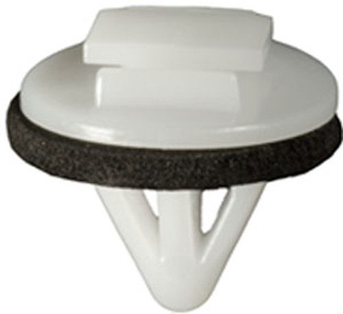 Moulding Clip With Sealer Head Diameter: 18mm Stem Length: 13mm Fits Into 8mm Hole Avalon 2005-On OEM# 75867-AC020 White Nylon 15 Per Box Click Next Image For Clip Detail