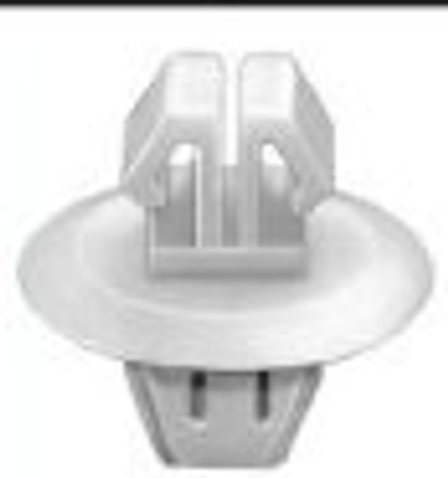 Rocker Panel Moulding Clip With Sealer Head Diameter: 18mm Stem Length: 9mm Toyota Previa & Estima 1990-On OEM# 90467-11063 White Nylon 15 Per Box Click Next Image For Clip Detail