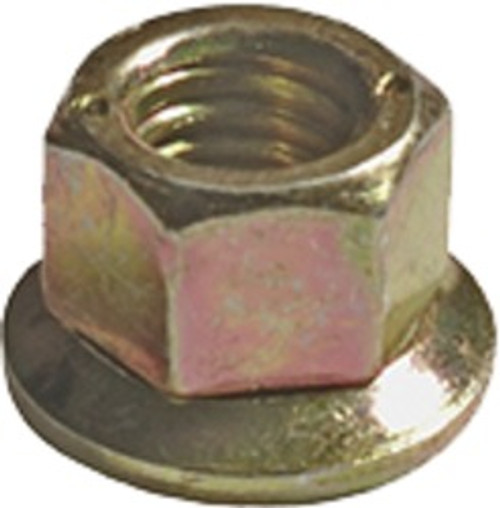 "Free Spinning Washer Nut 1/4""- 20 Thread Washer O.D. : 5/8"" Hex Size: 7/16"" OEM# 3866846, 385400 Yellow Zinc 50 Per Box Click Next Image For Nut Size Chart"