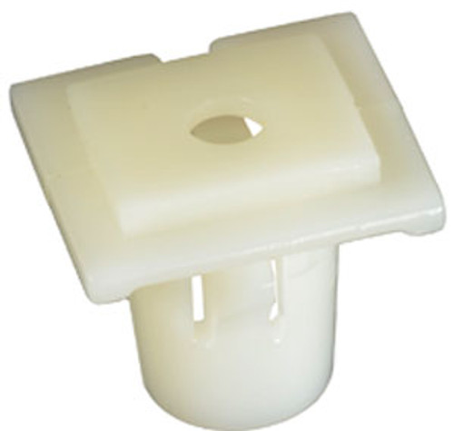 Door Trim Moulding Clip Head Size: 14mm x 16mm Stem Length: 12mm Fits Into 10mm Hole Acura RDX 2002-On Honda CR-V 2002-On OEM# 75316-S9A-004 White Nylon 25 Per Box Click Next Image For Clip Detail