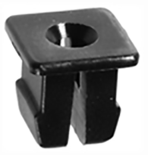 "Nylon Nut Use #6 Screw 3/8"" Square Head Fits 1/4"" Hole GM OEM# 16503329 Black Nylon 100 Per Box Click Next Image For Clip Detail"