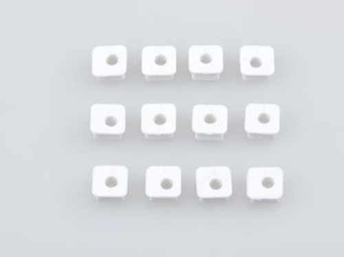 JQRacing White Square Insert Set 12Pcs (WE) (JQB0206LE)