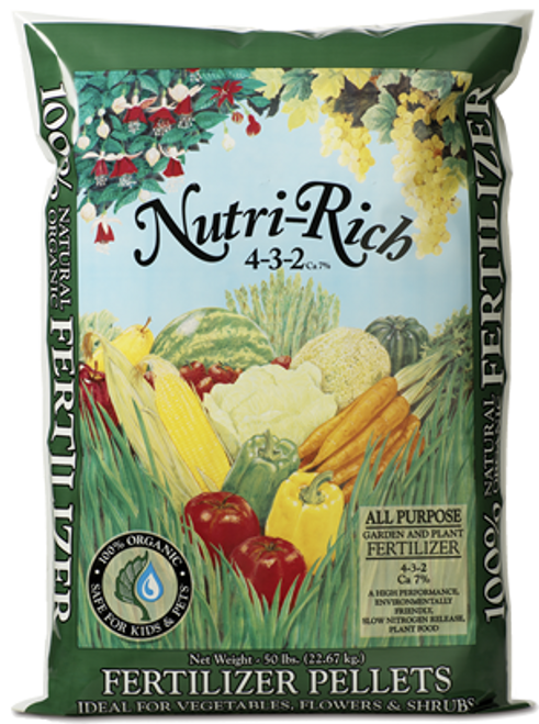 Nutri-Rich Fertilizer Pellets (4-3-2) 50 lbs
