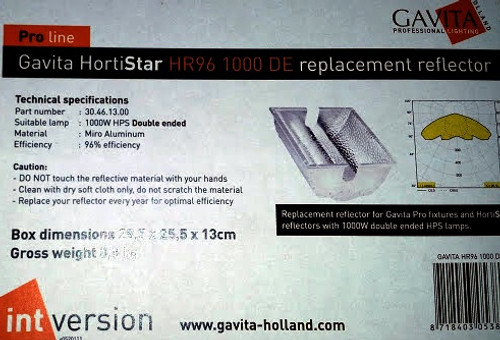 Gavita Hortistar HR96 1000DE Replacement Reflector (Metal Only)