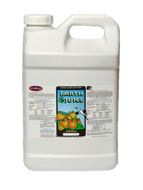 "N2.00% – P1.00% – K1.00%  A World -Wide Favorite Since 1991 as a ""Best"" Choice for a Grow formula plant food. Earth Juice Grow is a natural-organic liquid fertilizer that is formulated to encourage robust vegetative stem and leaf growth for a variety of indoor/outdoor foliage and flowering plants. Earth Juice Grow's Non-Burning, No Salt Residue formula is intended for ""Hand-Feeding"" applications only. Not for use with drippers, micro sprayers and hydroponics. An Ideal choice for all planting mixes, coco-coir and native soils. Earth Juice Grow and Bloom formulas may be mixed and used together for a customized feeding solution. See Feeding Charts, Keep It Simple and Earth Juice Original Formulas.  Earth Juice Grow's aromatics can range from a slightly earthy to a sharp yeasty sourness · Contains sediment · Shake Vigorously Before Each Use"