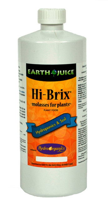 N0.00% – P0.00% – K3.00%  Take your plants to the next level with this rare and highly prized sugarcane molasses. Hi-Brix MFP is a natural source of carbohydrates (sugars) and beneficial elements that has been tailored into an easy to use liquid formulation for indoor and outdoor plants in soil and hydroponics. Hi-Brix™ can be used with a variety of fertilizers and is highly recommended for brewing plant teas.