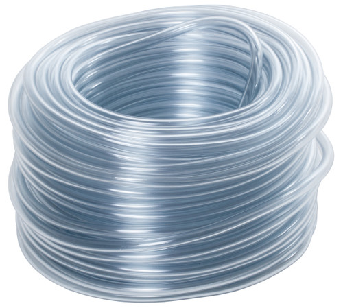 Vinyl Tubing Clear 3/16 in ID - 1/4 in OD 100 ft Roll