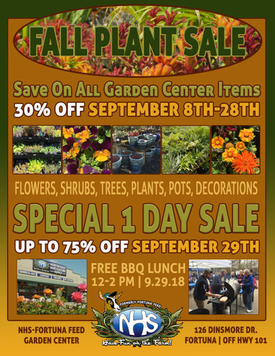 NHS Garden Center Fall Plant Sale