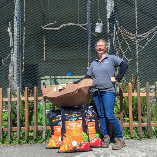 NHS Donates Horticulture Supplies to Sequoia Park Zoo for Primate Exhibit