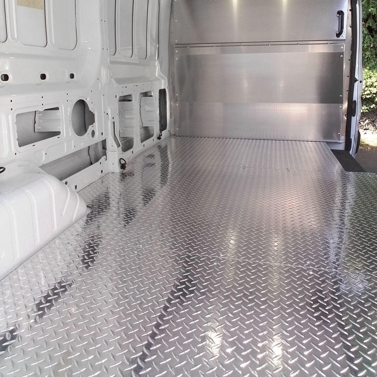 Transit Diamond Plate Aluminum Floor