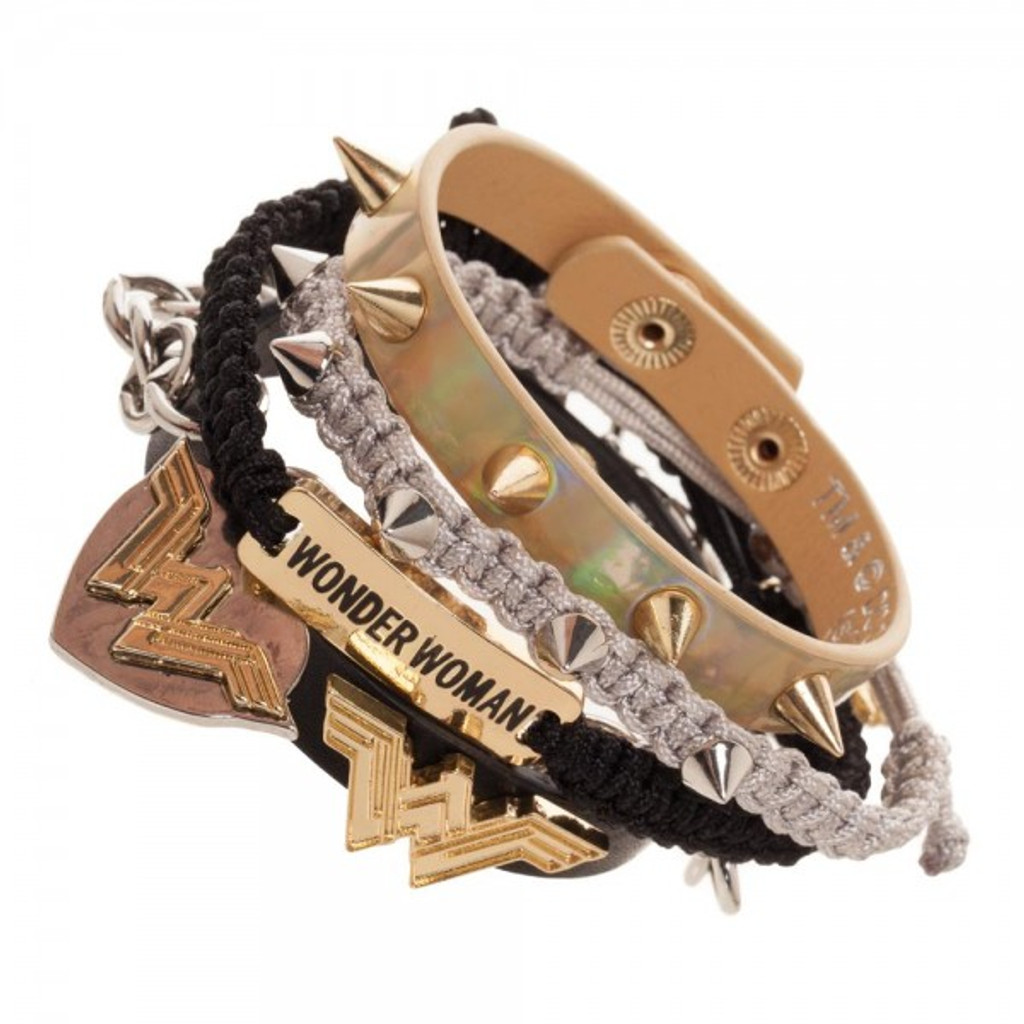 Wonder Woman 5 Piece Bracelet Set