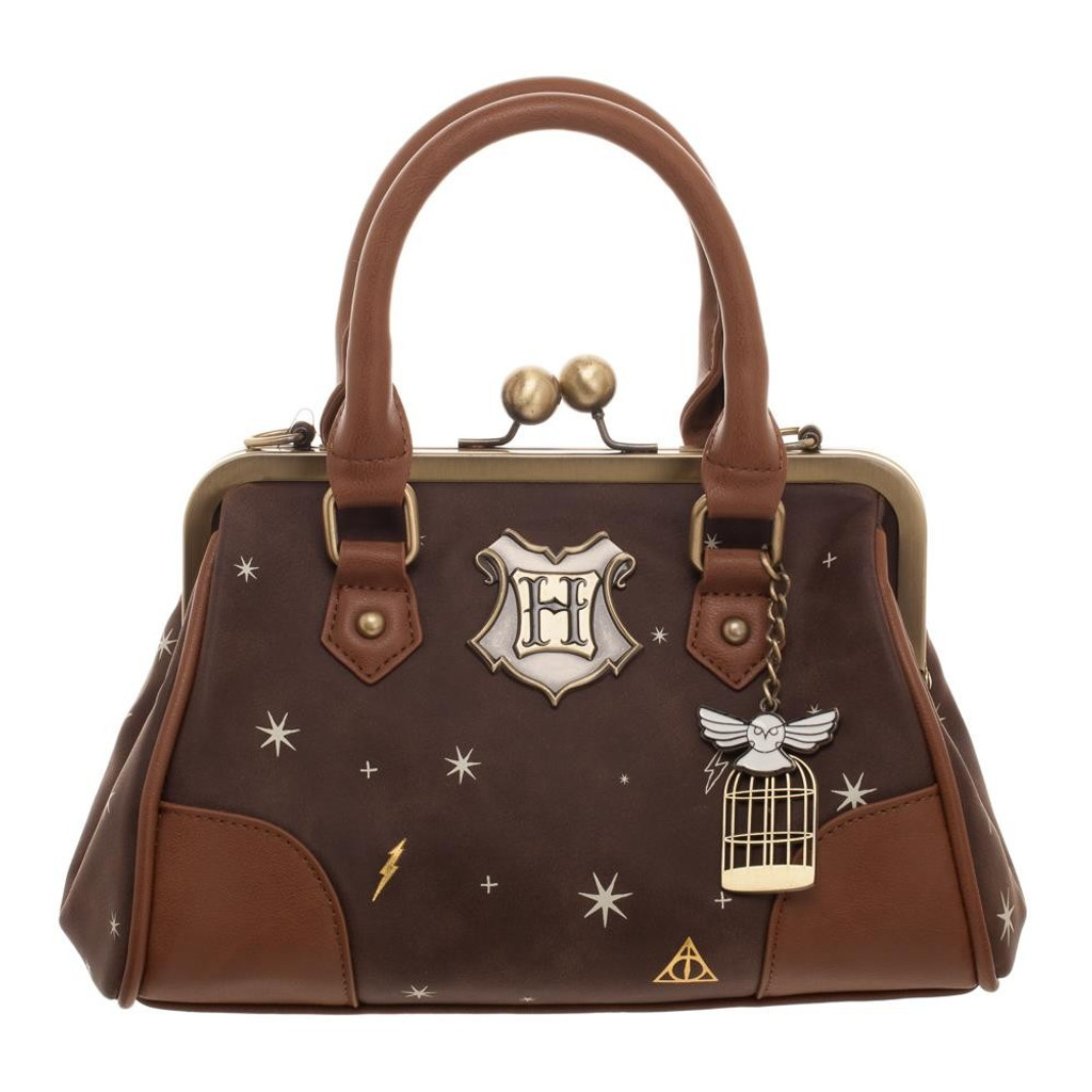 Harry Potter Kiss Lock Handbag w/Hedwig Charm