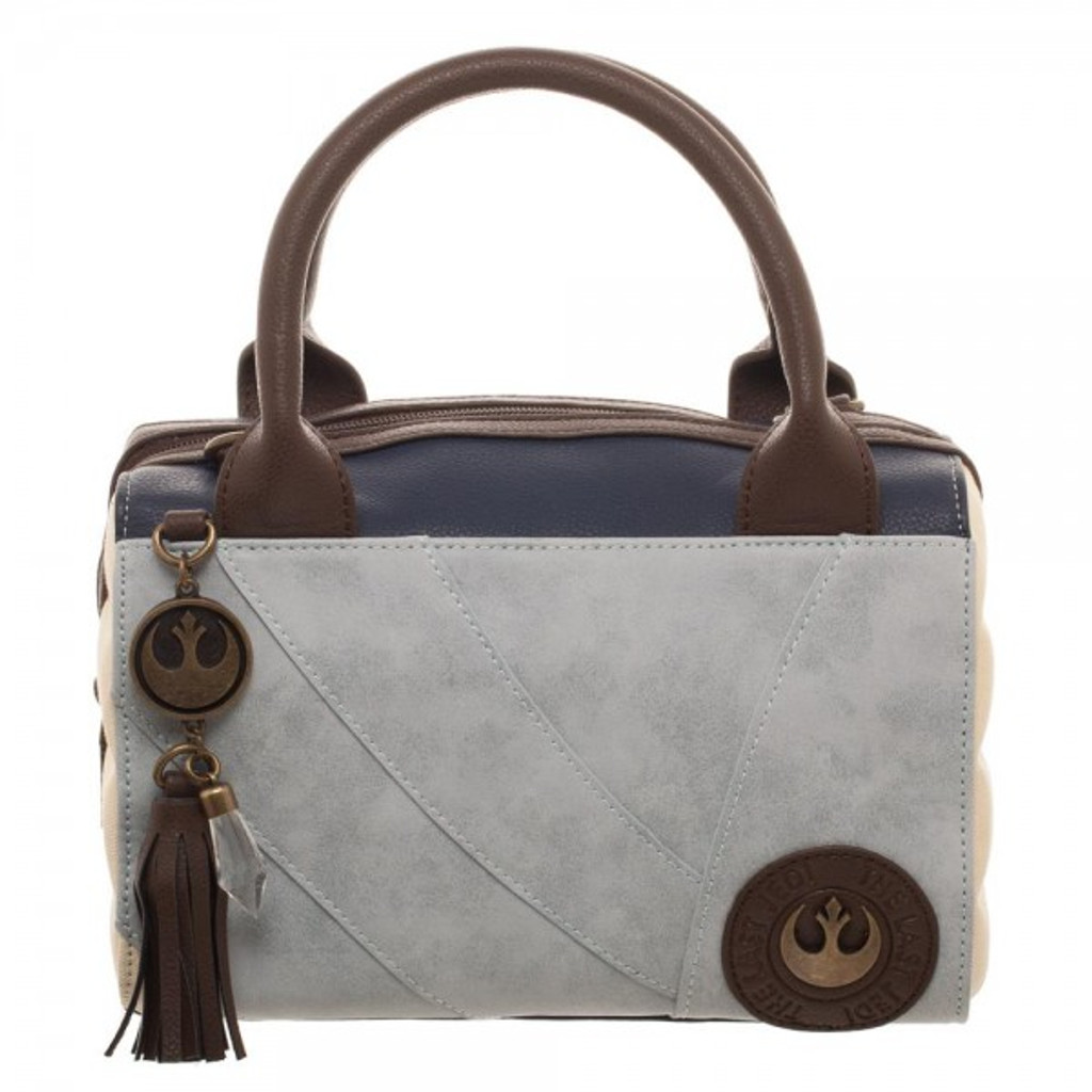Rey Canvas and Faux Leather Dotty Satchel