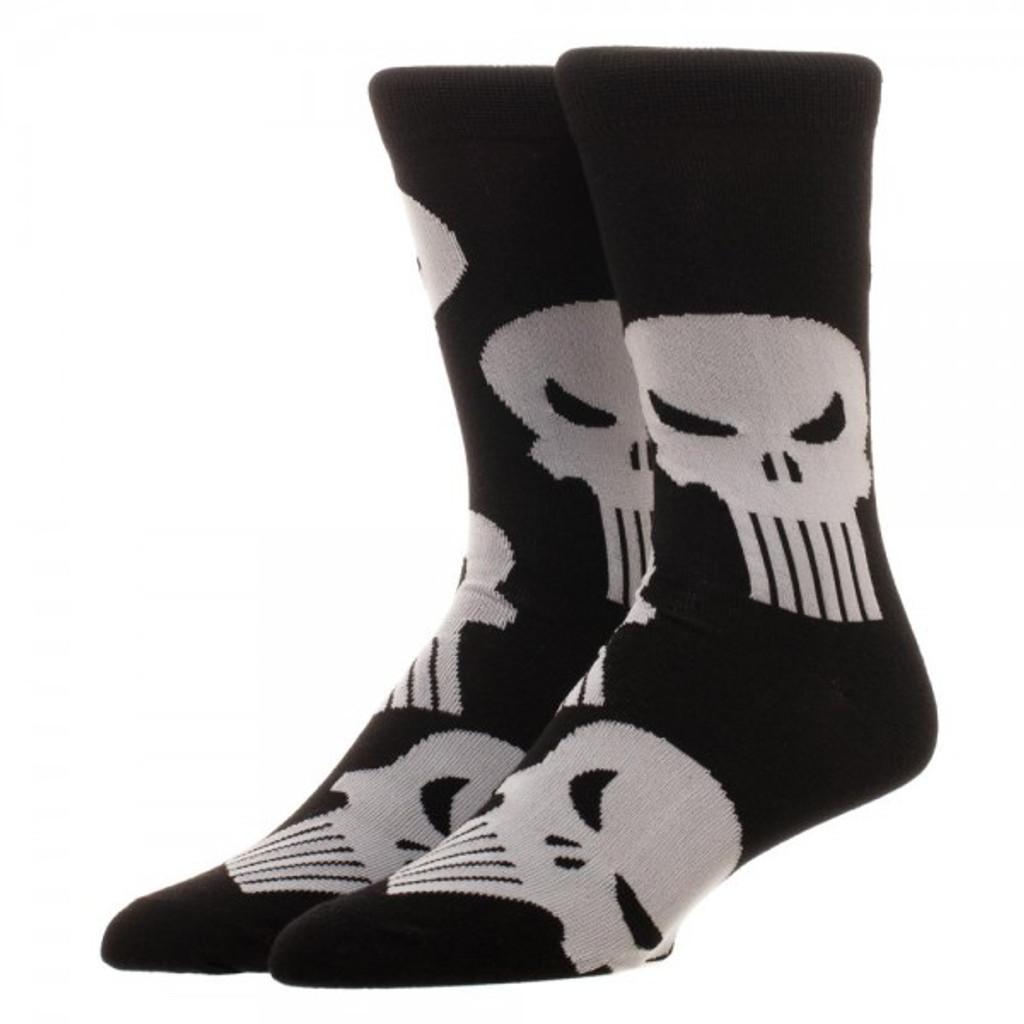 Marvel Punisher All-Over Print Crew Socks