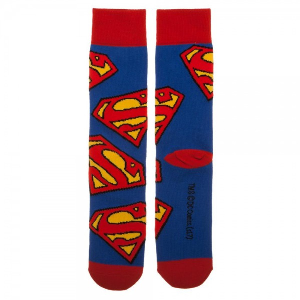 DC Comics Superman  All-Over Print Crew Socks