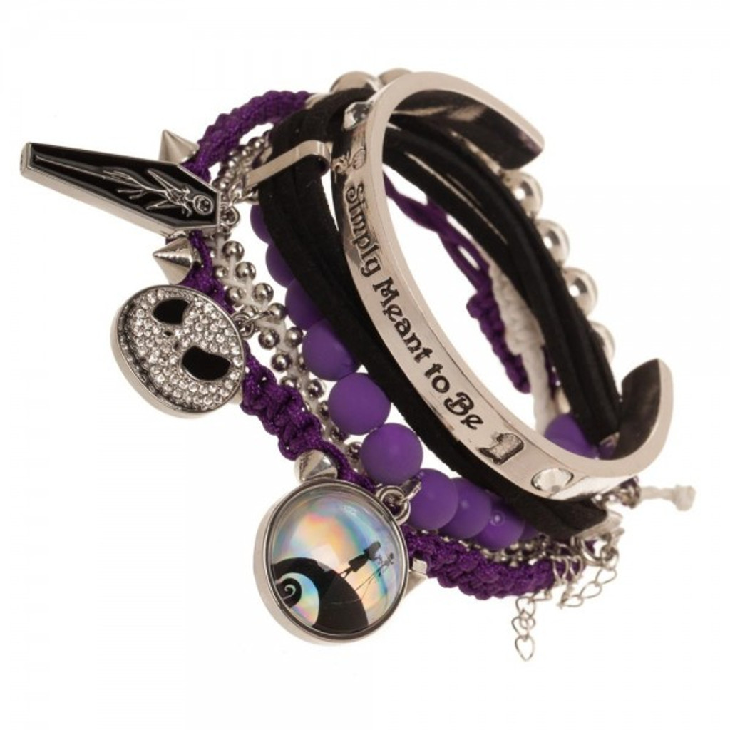 Nightmare Before Christmas 5 Piece Bracelet Set