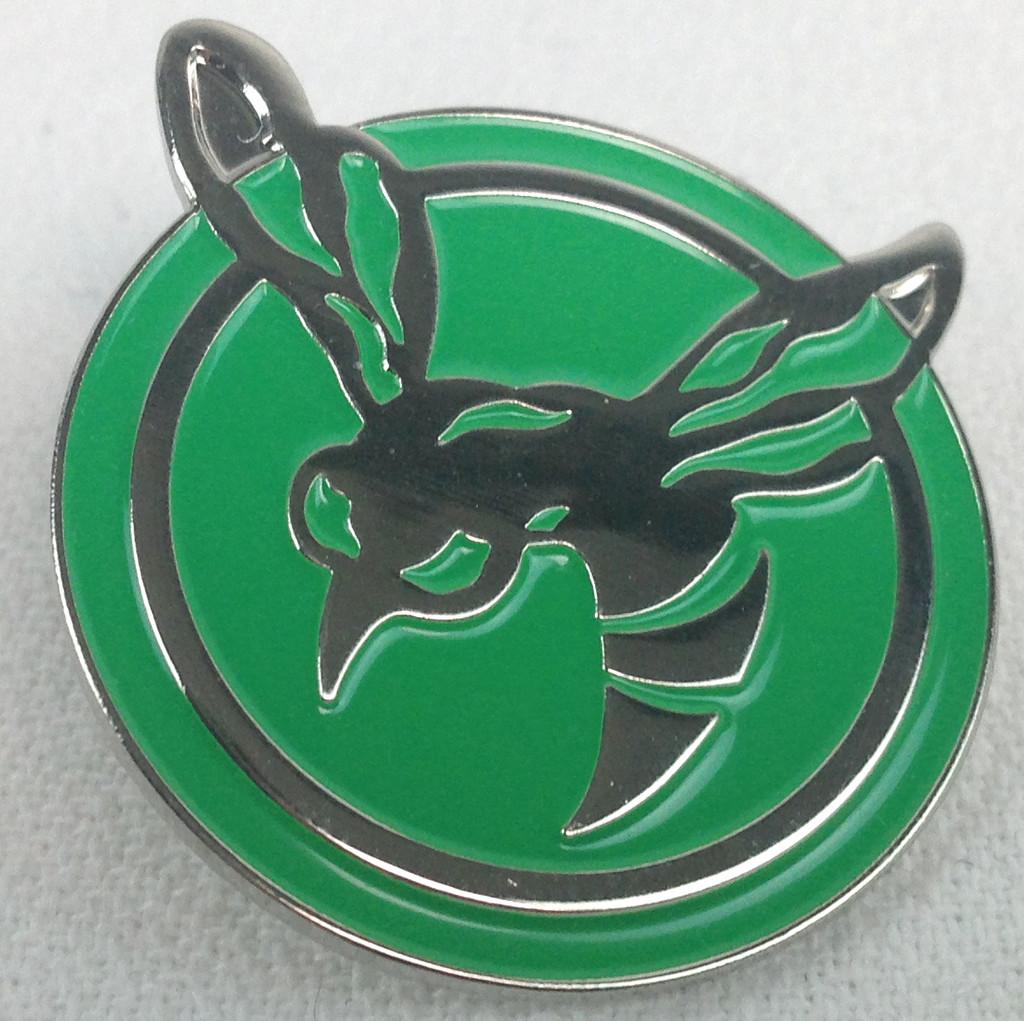 Green Hornet Logo Enamel Pin