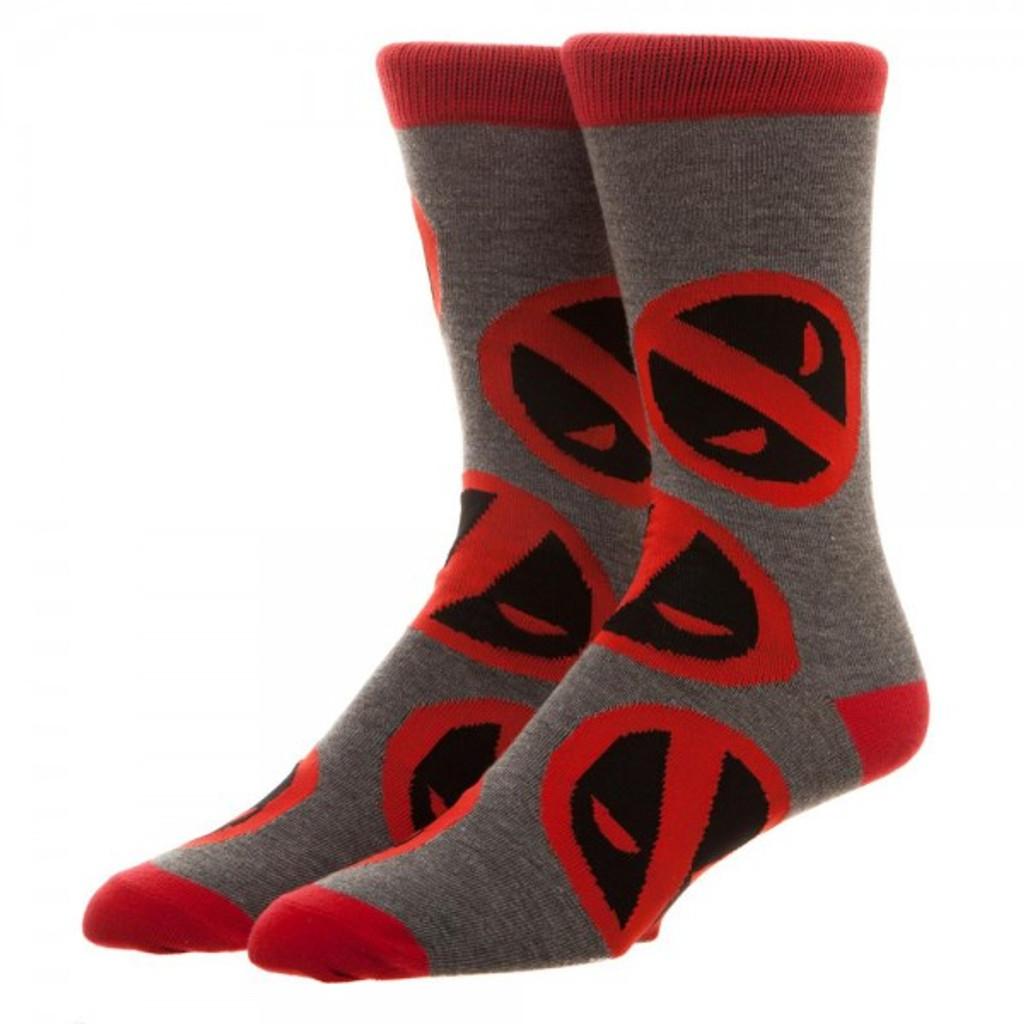 Marvel Deadpool Large All-Over Print Crew Socks