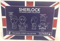 Sherlock Holmes Sherlock and Watson in Pajamas Titan Vinyl Figure Set - NYCC 2015 Exclusive