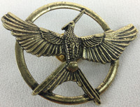 The Hunger Games Mockingjay Bronze Metal Pin (Version 2)