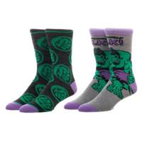Marvel Comics The Hulk 2 Pack Crew Socks