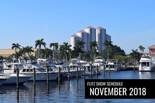 Flitz Show Schedule for November 2018