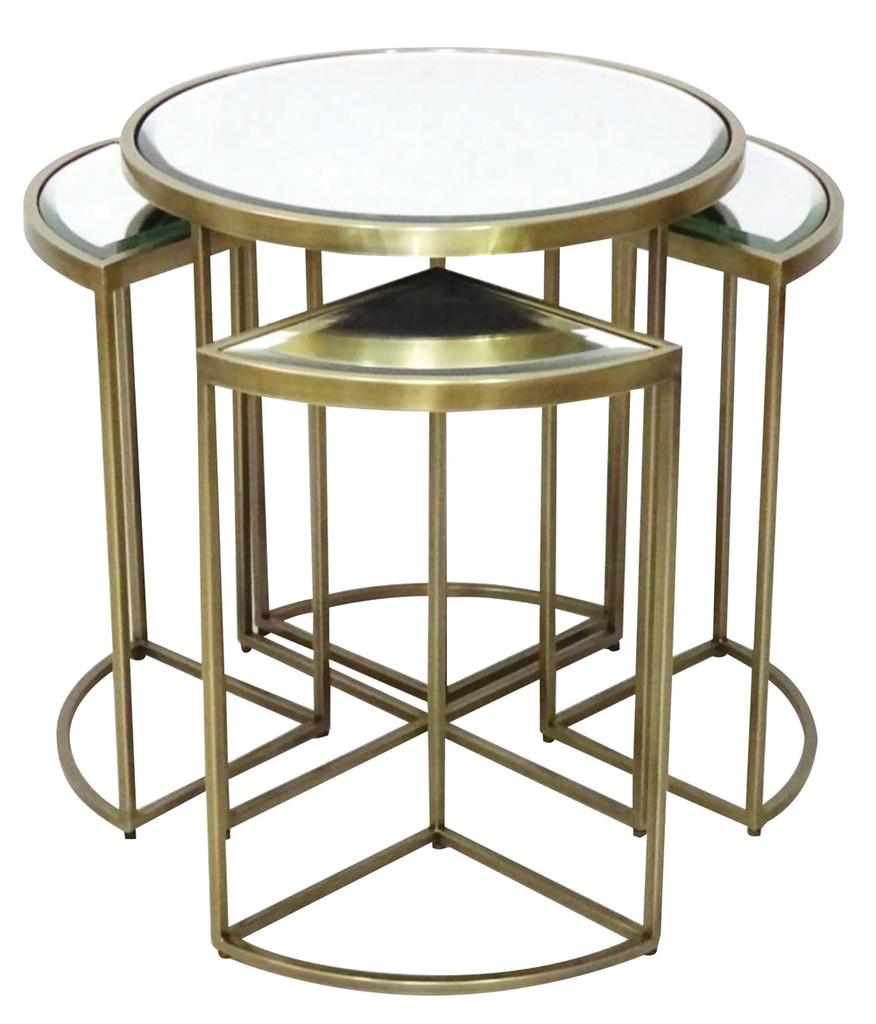 Salamanca 5 Piece Nesting Table Antique Brass - AZ019
