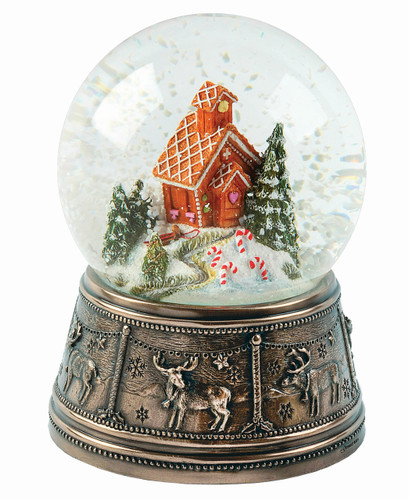 Gingerbread House Snow Globe - MM031