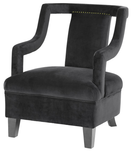 Kelsey Armchair - Black  -  MB024