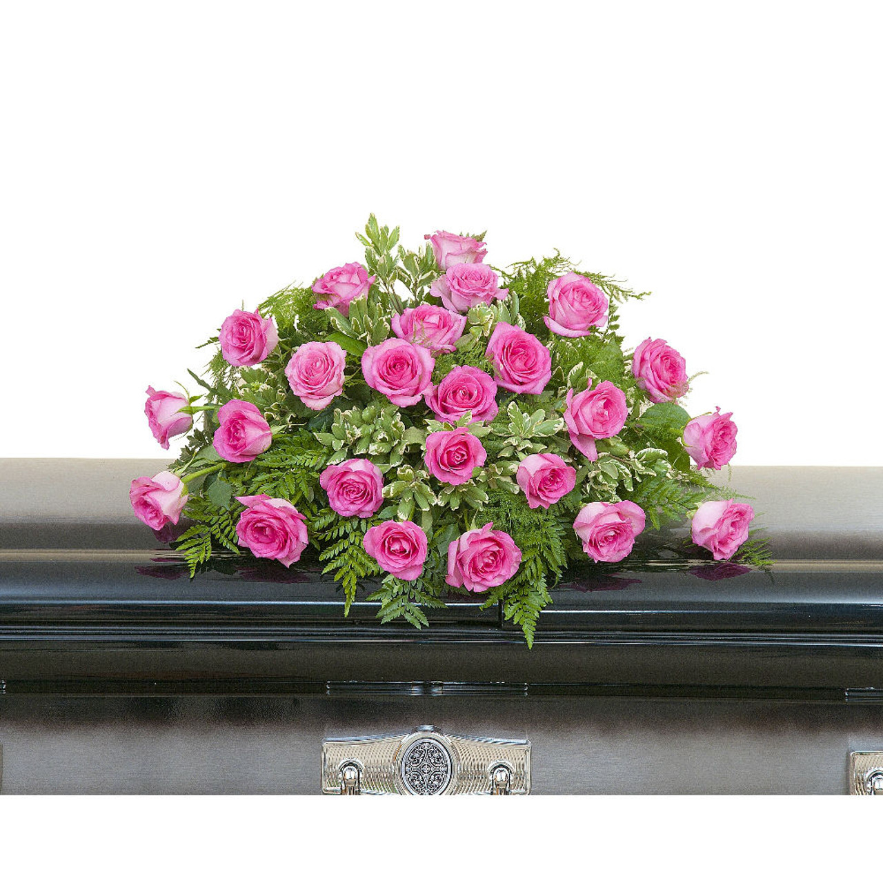 Pink Rose Casket Spray Abbott Florist