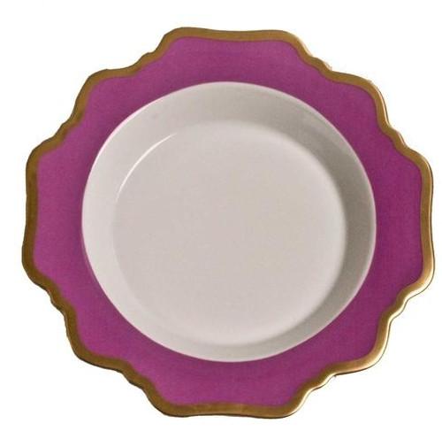 Anna Weatherley Anna's Palette - Purple Orchid Rim Soup Plate
