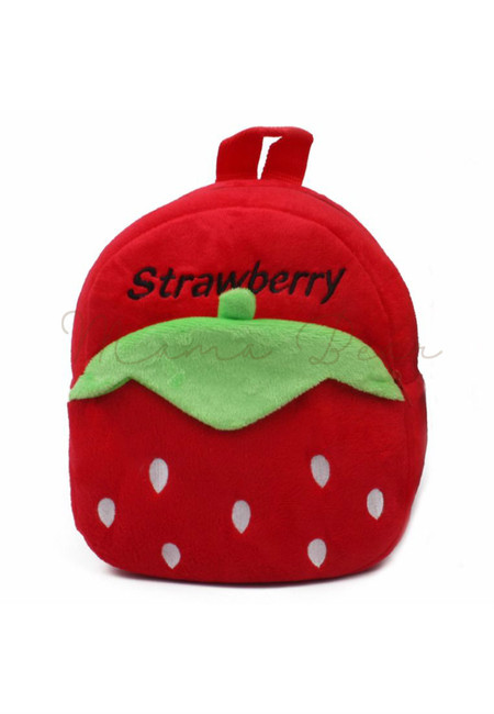 Strawberry Like Kids Fur Bag (Small)