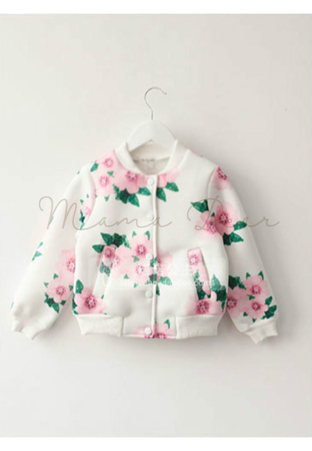 Floral Baseball Kid Jacket