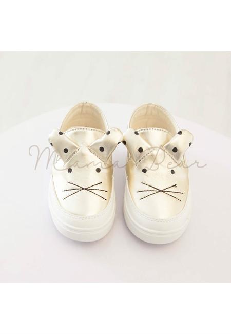 Polka Ear Mouse Kids Slip On Shoes