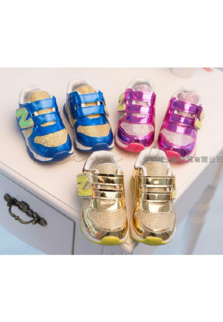 Metallic Colored Kid Shoes