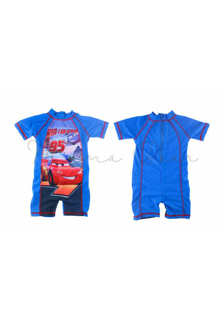 Cars Boys Kids Rash Guard Swimwear