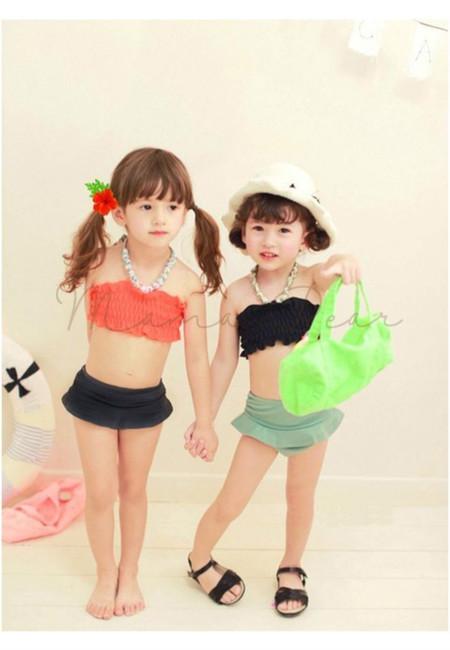Simple Princess Kids Swimsuit 3pcs Set