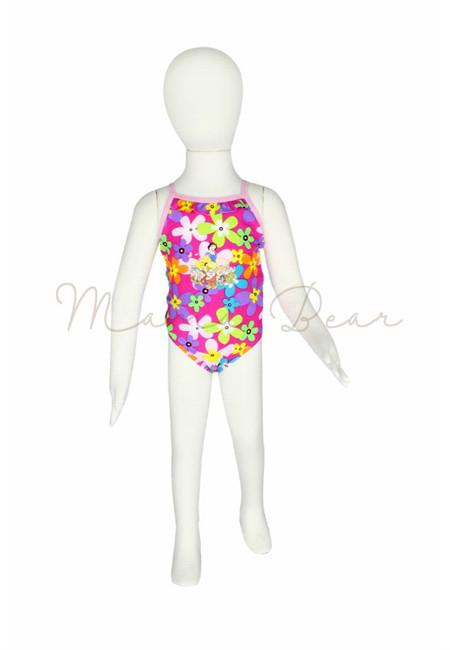 Snow White Floral Kids Swimwear