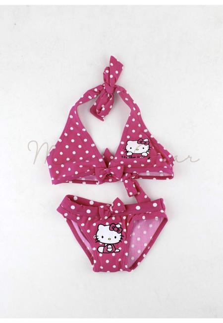 Polka Dots Kitty Kids 2pc Bikini