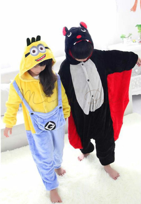 Minion or Bat Kids Onesies