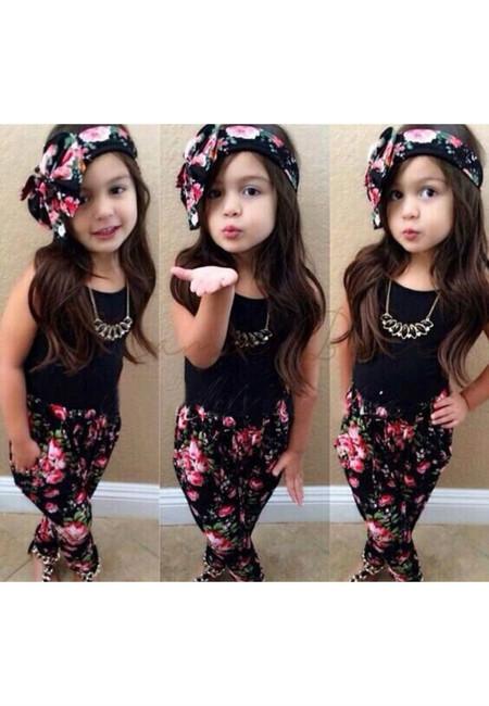 Summer Floral Kid Clothing Set