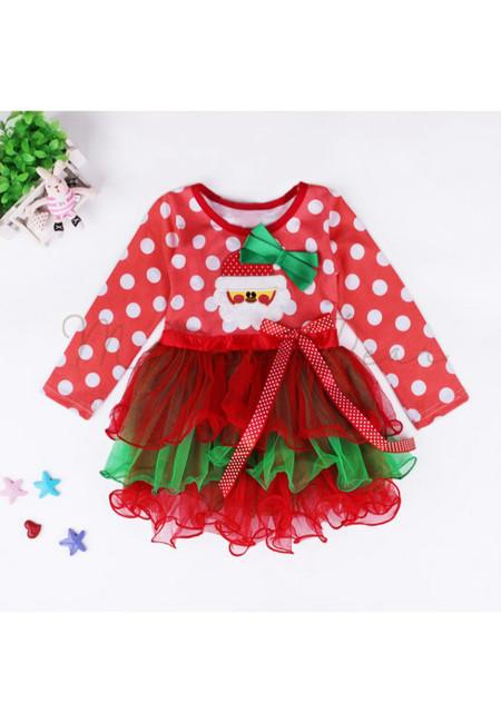 Baby Santa Bow Tutu Dress