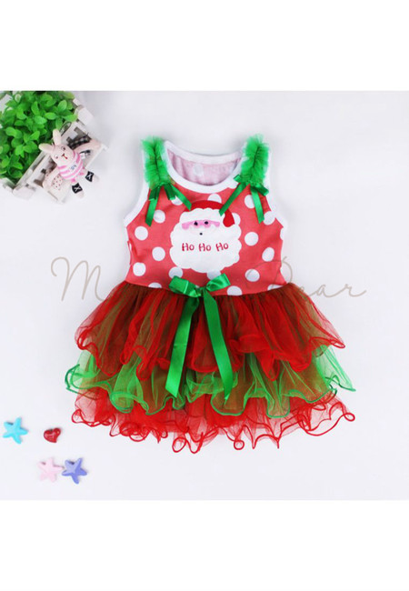 HoHoHo Sleeveless Tutu Dress