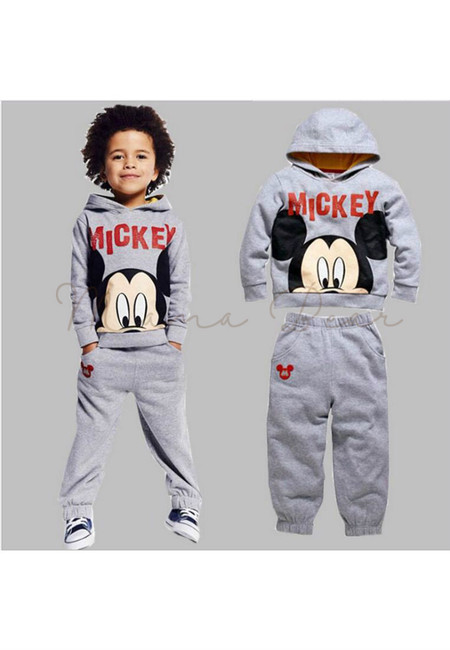 Little Mickey Mouse Hoodie and Pants Clothing Set